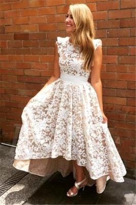 Lace Appliques Sleeveless Bridesmaid Dresses | A-line Long Wedding Party Dresses_1
