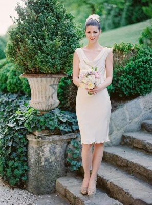 Sexy Sleeveless Sheath Scoop Bridesmaid Dresses_2