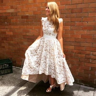 Lace Appliques Sleeveless Bridesmaid Dresses | A-line Long Wedding Party Dresses_3