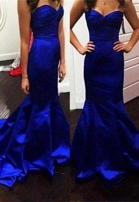 Glamorous Mermaid Royal-Blue Sweetheart Evening Dress_2