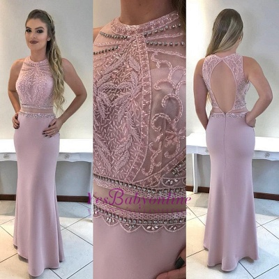 Beadings Gorgeous Mermaid Sleeveless Prom Dress_1