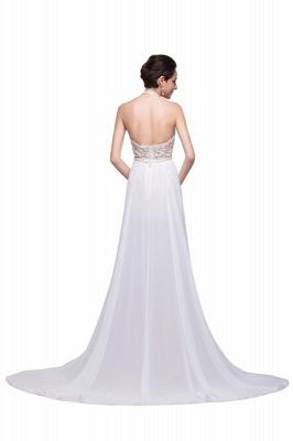 Halter Lace Chiffon Wedding Dresses with a Leg Slit_4