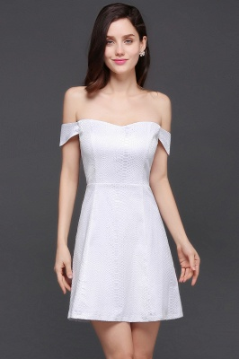 Special In-Stock Occasion New Off-Shoulder Women Short A-Line Evening Dresses_5