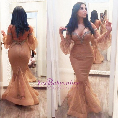 Backless Sequins Hot Off-the-Shoulder Plus-Size Mermiad Evening Gown_1