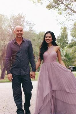 Jewel Tiered Chic Sleeveless A-Line Prom Dresses_6