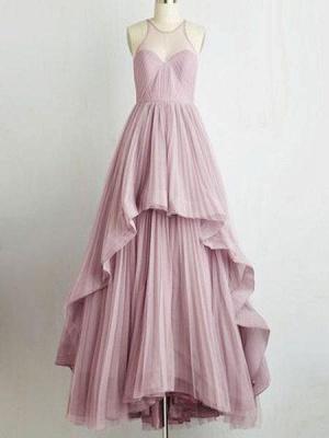 Jewel Tiered Chic Sleeveless A-Line Prom Dresses_4