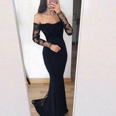 Elegant Long Sleeves Evening Dresses | Mermaid Appliques Prom Dresses_4