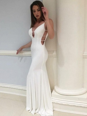 Sexy Mermaid  Spaghetti Straps Backless Long Prom Dress | Evening Dress_1