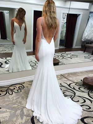 Sexy Mermaid  Spaghetti Straps Backless Long Prom Dress | Evening Dress_3