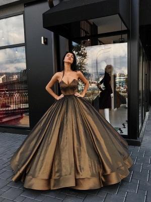 Beaded Sweetheart Sleeveless Luxury Ball-Gown Prom Dresses_2