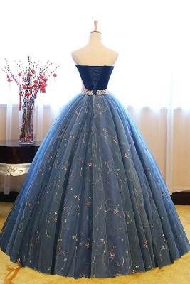 Exquisite Sweetheart Pearls Puffy Embroidery Prom Dresses_6