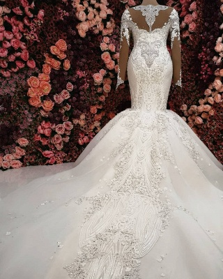 6d40afb6a87 Luxury Crystals Mermaid Bridal Gowns