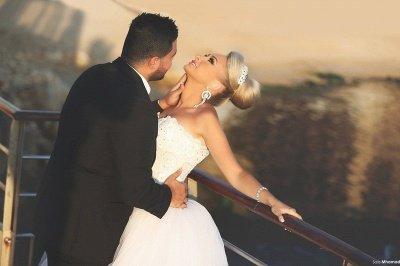 Luxurious Sweep Train Crystal Beading Mermaid Tulle Wedding Dress with Detachable Train_4