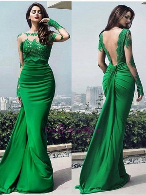 dresses long prom chic Elegant lace prom dresses_2