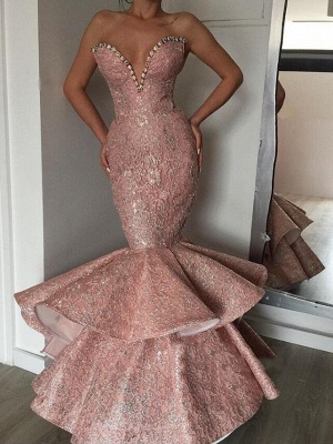 Luxurious Mermaid Sweetheart Crystal Prom Dresses   Evening Gowns_1