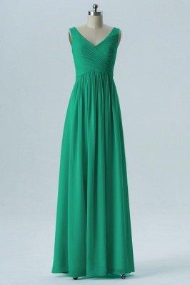 A-line Chiffon V-Neck Bridesmaid Dresses with Ruffles_4
