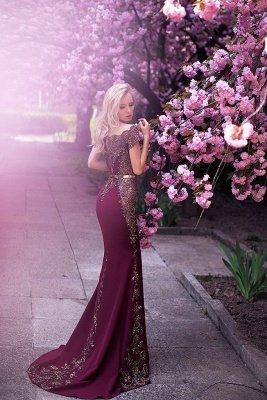 Elegant Appliques Long Evening Dresses | Mermaid Off-the-Shoulder Prom Gowns_4