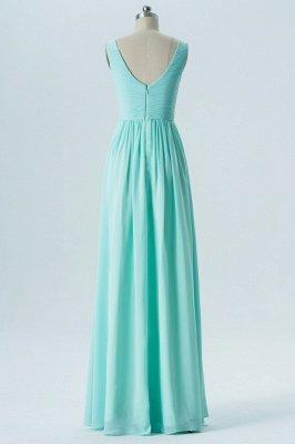 A-line Chiffon V-Neck Bridesmaid Dresses with Ruffles_2