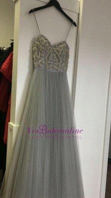 Beads  Spaghetti-Strap Newest Sleeveless A-line Prom Dress_1