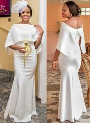 Chic Mermaid Evening Gowns | Long Formal Dress with Cape_1