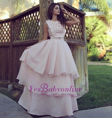pink Evening Chic Cheap Long  Dresses Evening Gowns_1
