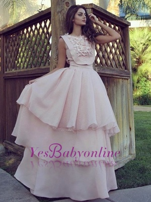 pink Evening Chic Cheap Long  Dresses Evening Gowns_2