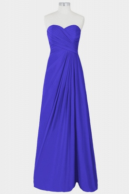 A Line Chiffon Strapless Sweetheart Floor Length Bridesmaid Dresses with Ruffles_4