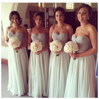 Chiffon A-line Floor-Length Mint Bridesmaid Dresses_5