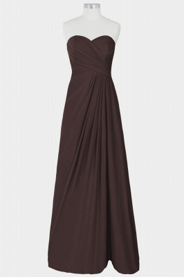 A Line Chiffon Strapless Sweetheart Floor Length Bridesmaid Dresses with Ruffles_1