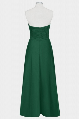 A Line Chiffon Strapless Sweetheart Floor Length Bridesmaid Dresses with Ruffles_2