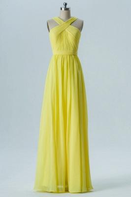 A Line Chiffon Floor Length Bridesmaid Dresses With Ruffle_1