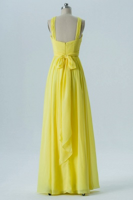 A Line Chiffon Floor Length Bridesmaid Dresses With Ruffle_2