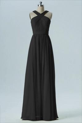 A Line Chiffon Floor Length Bridesmaid Dresses With Ruffle_4