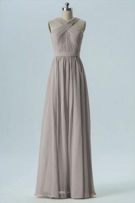 A Line Chiffon Floor Length Bridesmaid Dresses With Ruffle_5