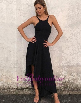 High-low Backless Stylish Sleeveless A-line  Evening Dress_2