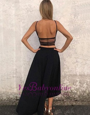 High-low Backless Stylish Sleeveless A-line  Evening Dress_1