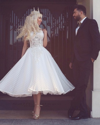 Sparkly White Off-the-Shoulder Ball-Gown Wedding Dress_2