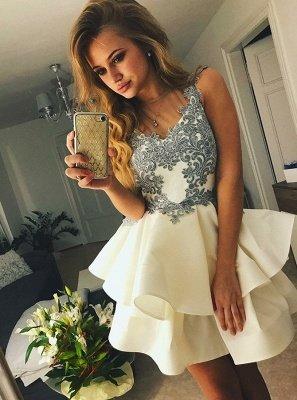 Elegant Appliques Homecoming Dresses | A-Line Sleeveless Cocktail Dresses_1