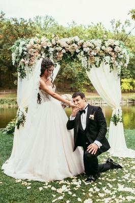 Tulle Glamorous Beadings Princess Sweetheart Lace Wedding Dress_3