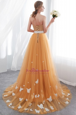 Fashion Sheath Gold Long Floor-Length Sash Evening Dresses_3