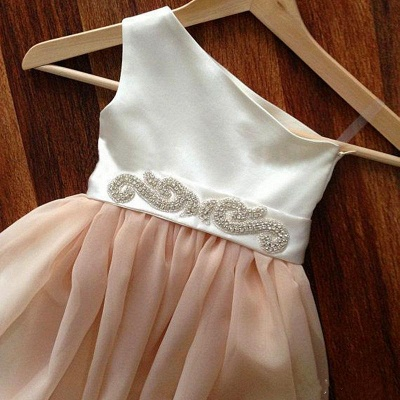 Lovely Cap Sleeve Tulle Princess Flower Girl Dress with Bowknot_3