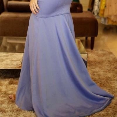 A-Line Sexy V-Neck Sleeveless Front-Slit Prom Dresses_5