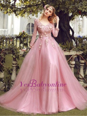 Special Fashion  Sleeve Pink Long Sheath Evening Dresses Occasion Dresses_5