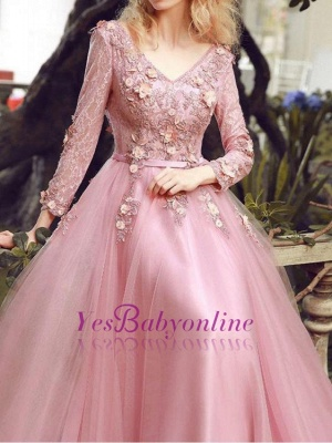 Special Fashion  Sleeve Pink Long Sheath Evening Dresses Occasion Dresses_1