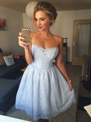 Sweetheart Homecoming Dresses | A-Line Sleeveless Cocktail Dresses_1