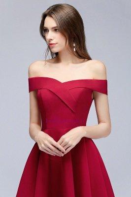 A-line Off-the-shoulder Short Burgundy Homecoming Dress_3