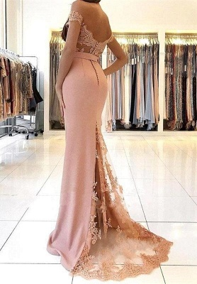 Sexy Mermaid Prom Dress | Off-the-Shoulder Appliques Evening Gowns_4