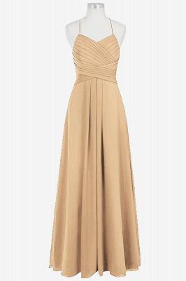 A Line Chiffon Spaghetti Straps Floor Length Bridesmaid Dresses with Ruffles_3