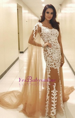 Long Lace Scoop Popular Prom Dresses_1