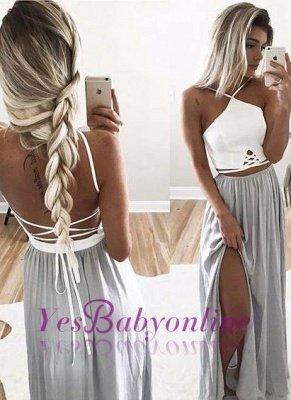 Long Halter-Neck Summer Spaghettis Straps Side-Slit Open-Back Prom Dresses_1